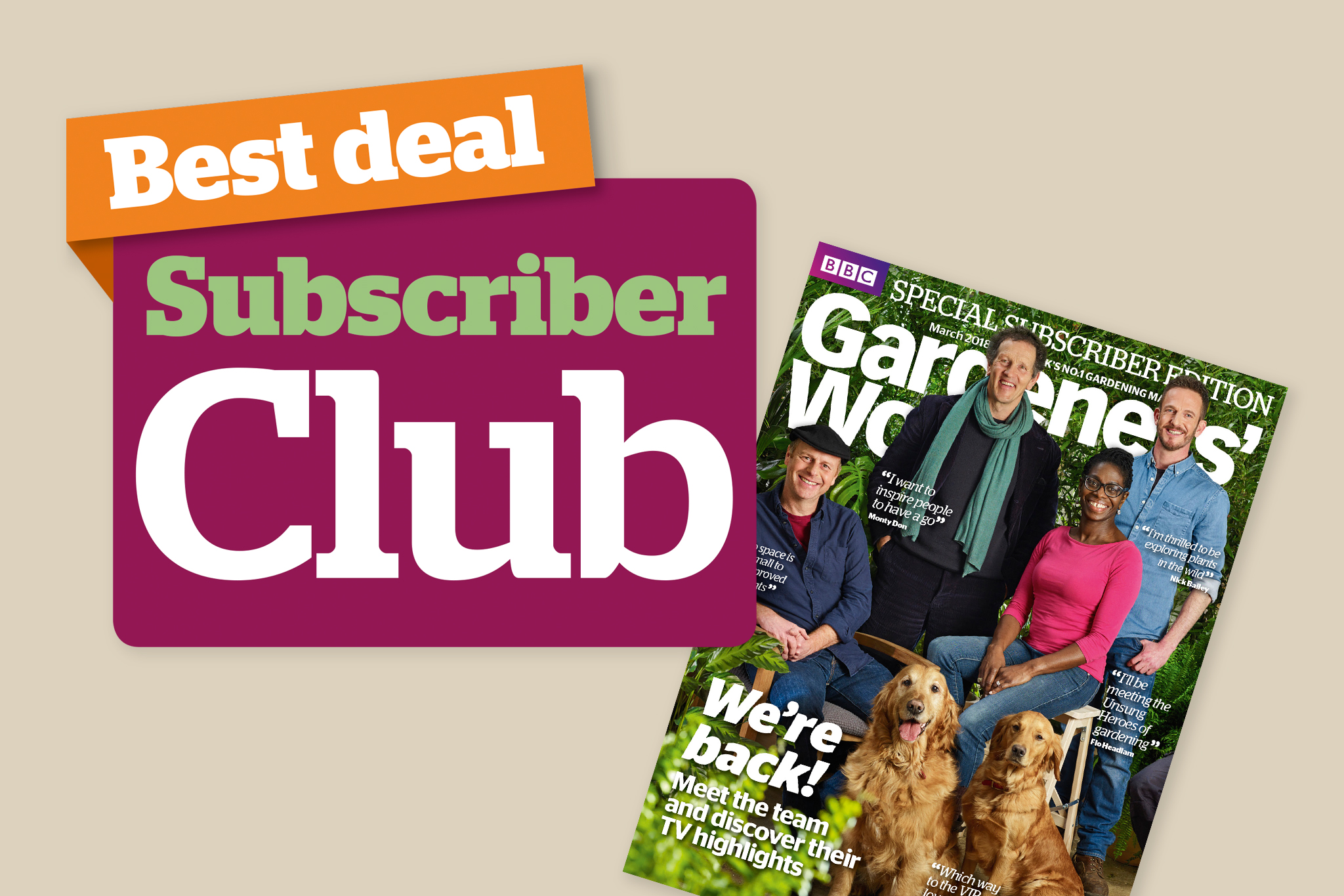 Subscriber Club 10 discount BBC Gardeners' World Magazine