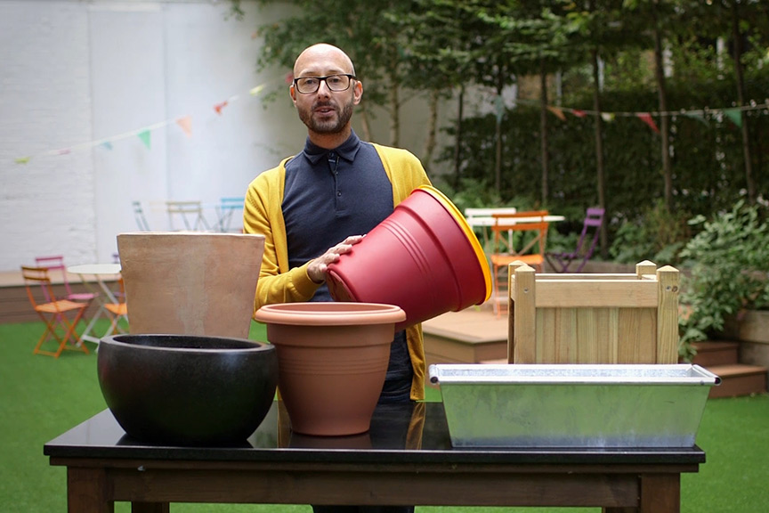Choosing pots and containers video