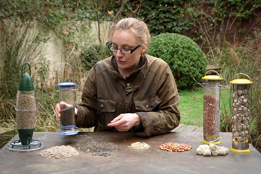 Feeding garden bids NFG video