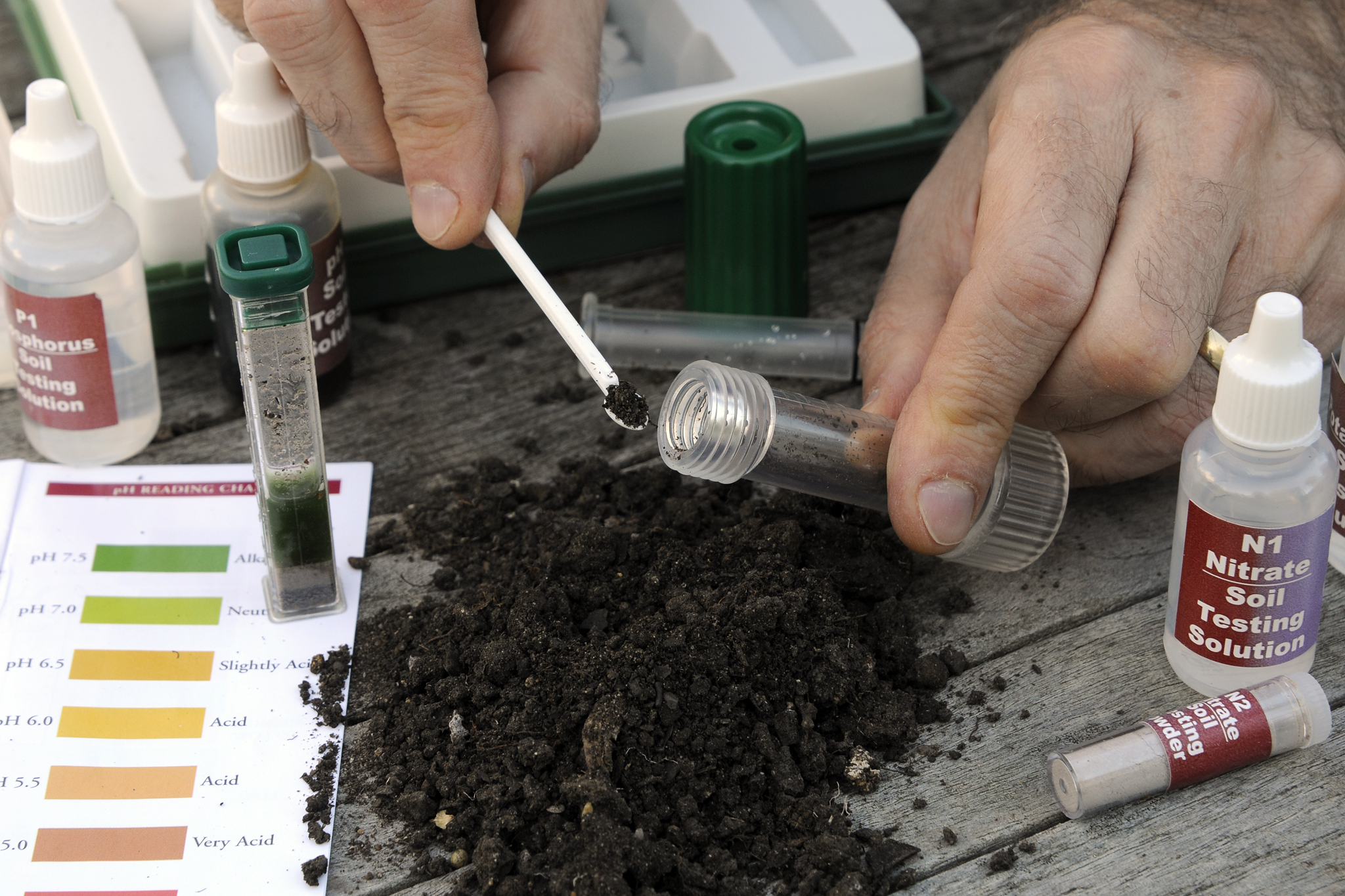 Soil pH testing kit