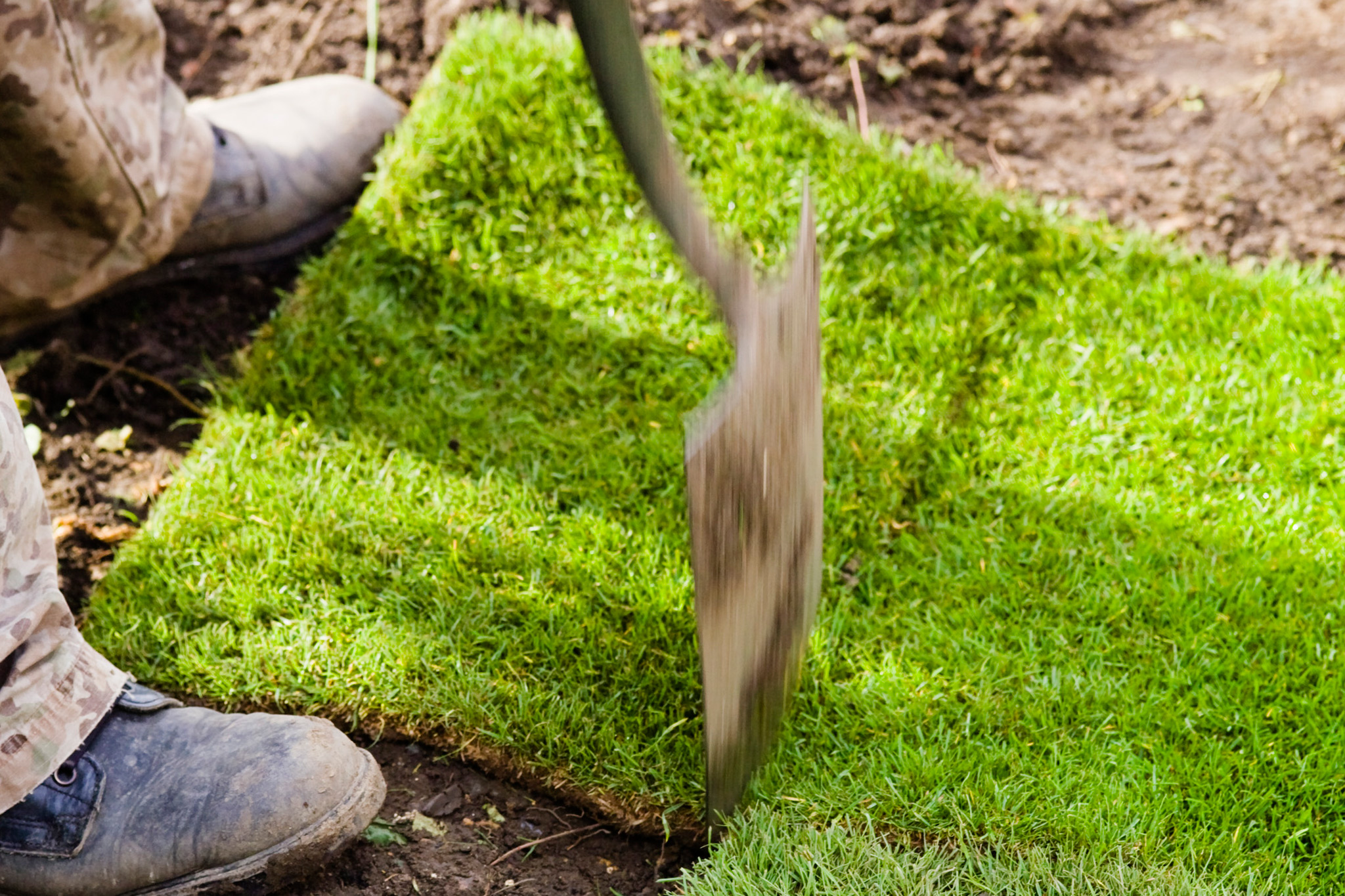 cutting-off-excess-lawn-turf-3