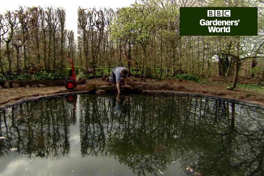 How to edge a pond to hide the liner video