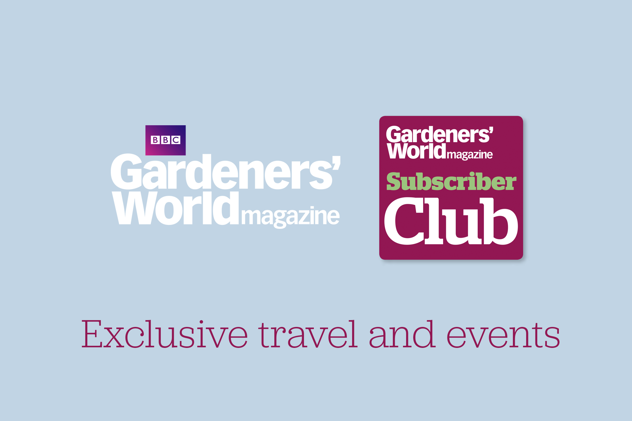 Events and exclusive travel from BBC Gardeners World Magazine