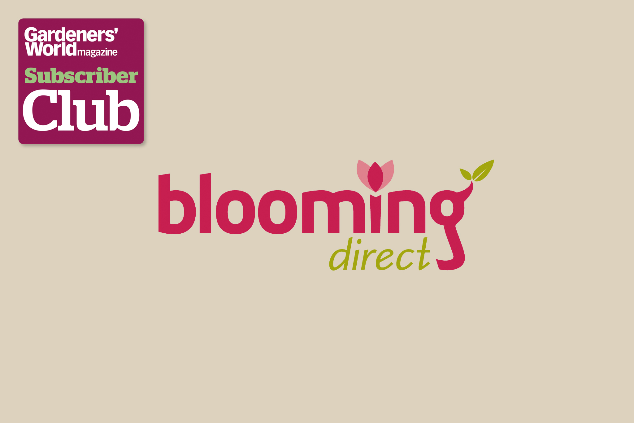 Blooming Direct BBC Gardeners' World Magazine Subscriber Club discount