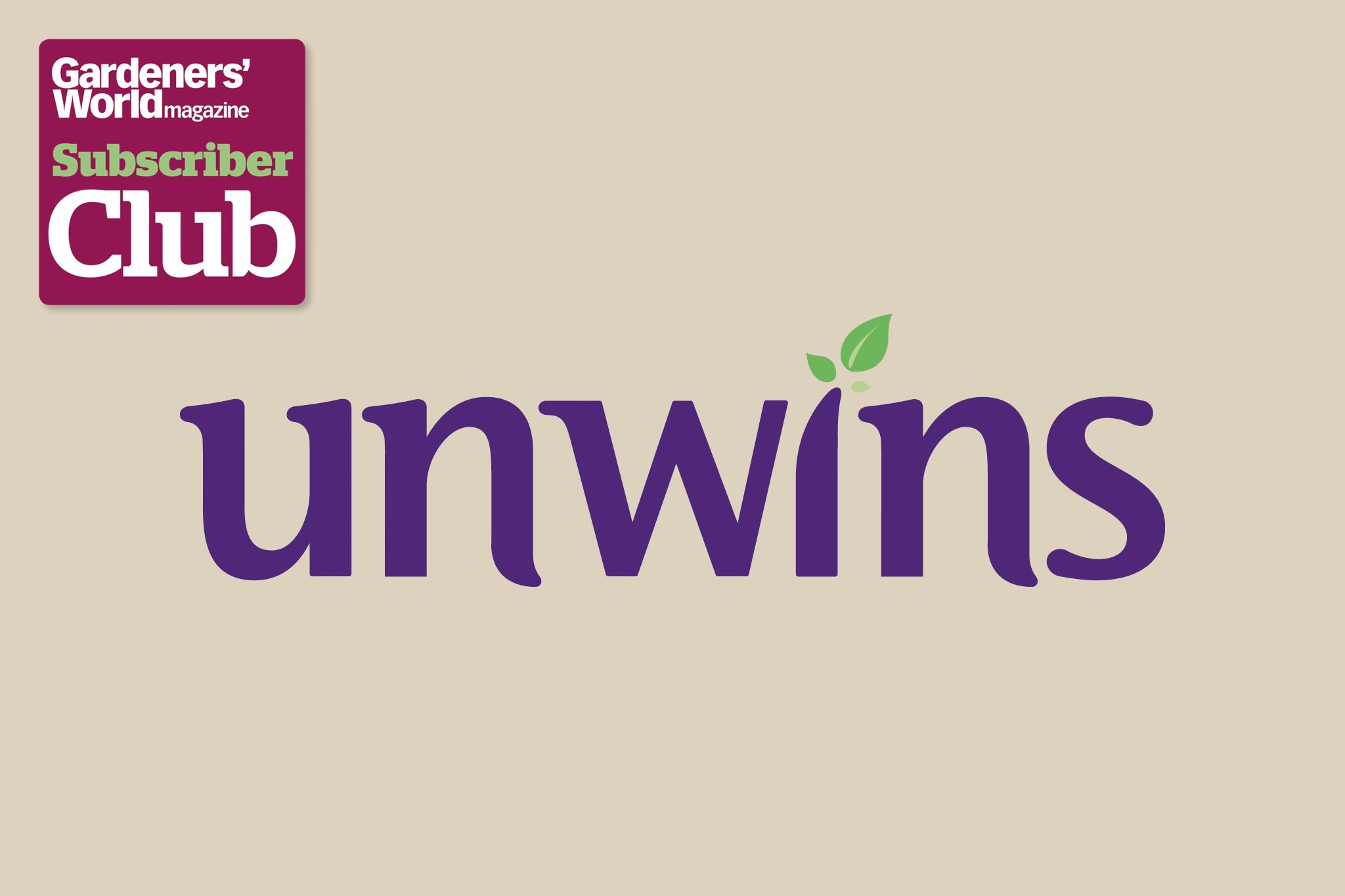 Unwins BBC Gardeners' World Magazine Subscriber Club discount