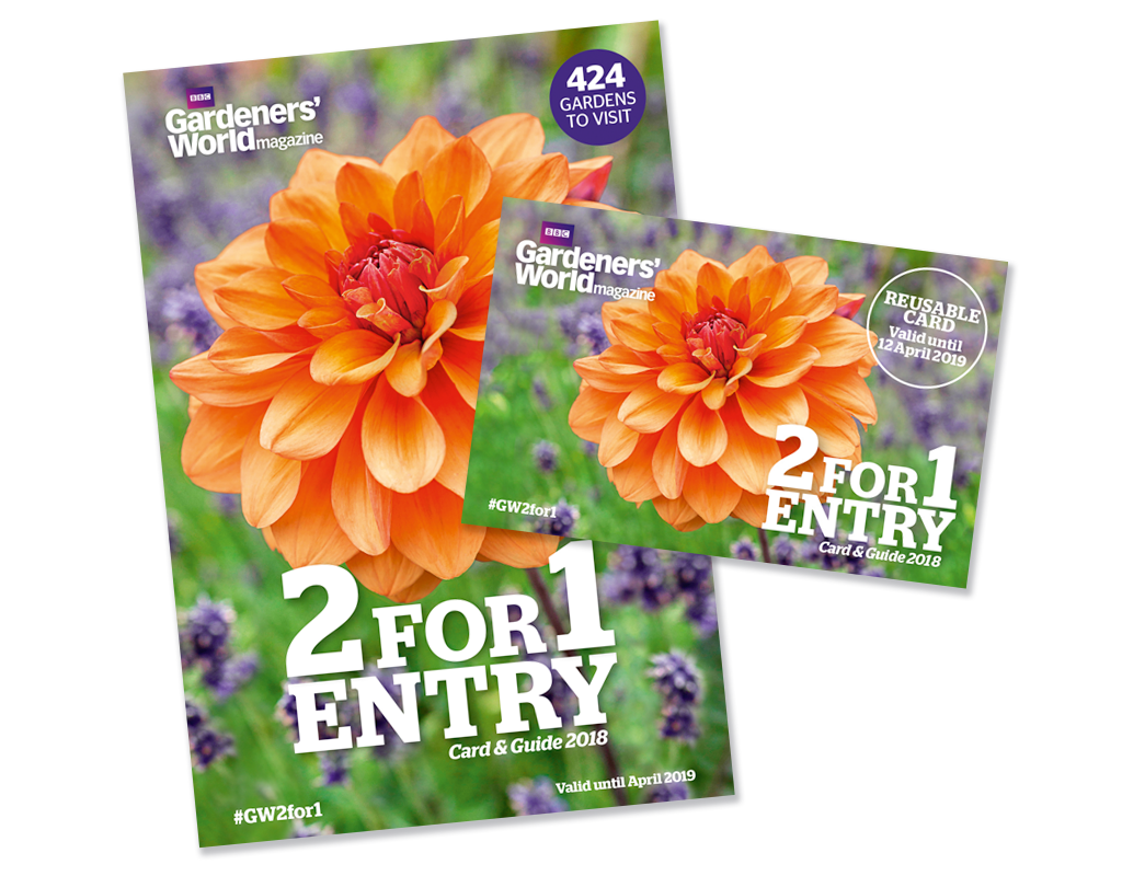 2-for-1 gardens card and guide 2018
