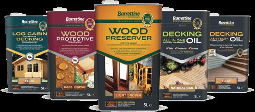 Barrettine woodcare range