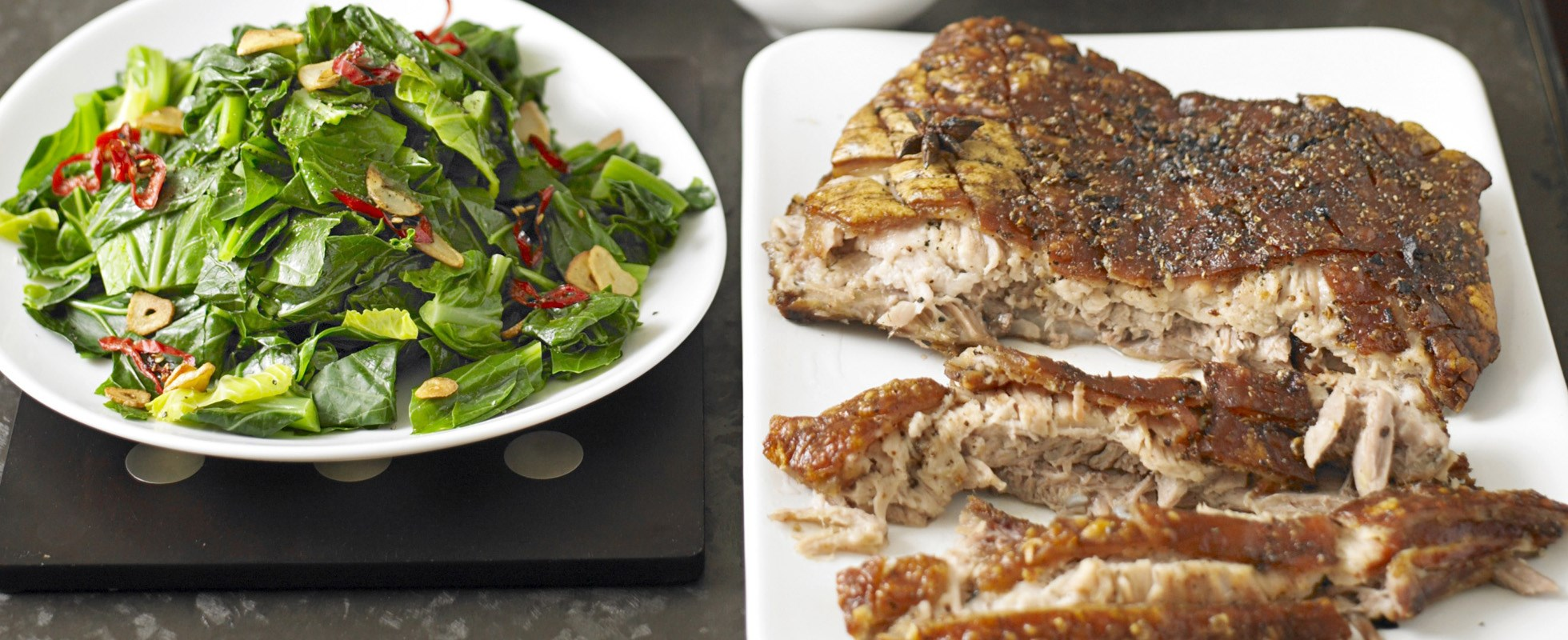 Roast pork belly with star anise plum sauce - olive magazine