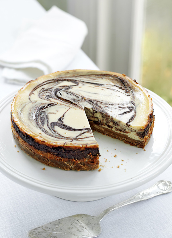Baked Cheesecake Recipe With Chocolate Swirls