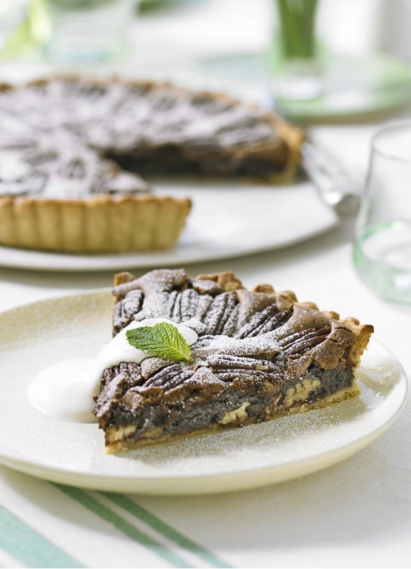 Chocolate Brownie Pecan Tart Recipe