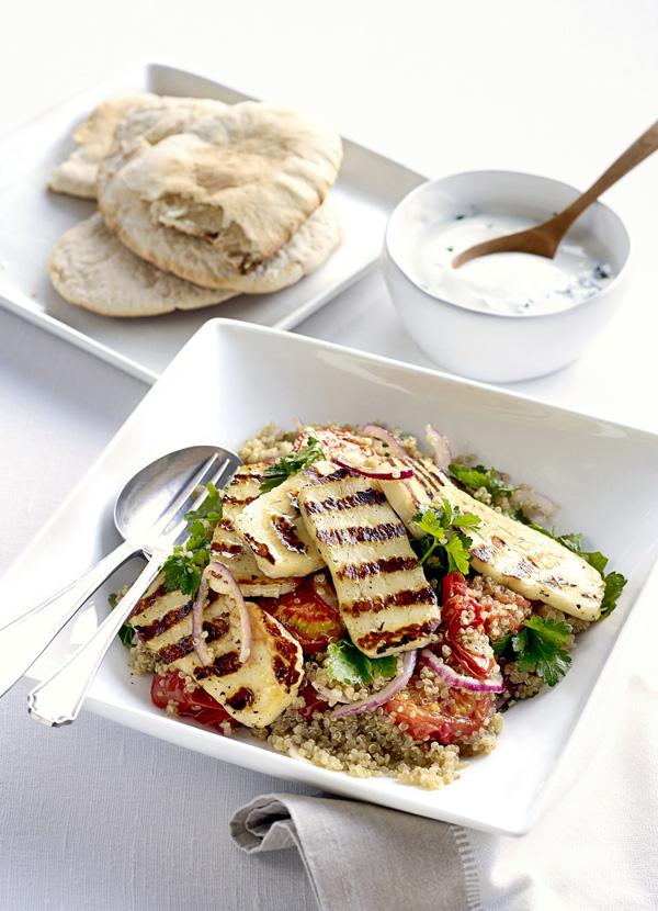 Roasted tomato, halloumi and quinoa salad - best quinoa recipes