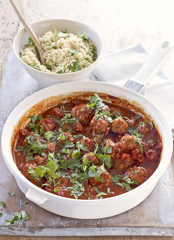 Moroccan Meatballs Recipe With Herb Couscous