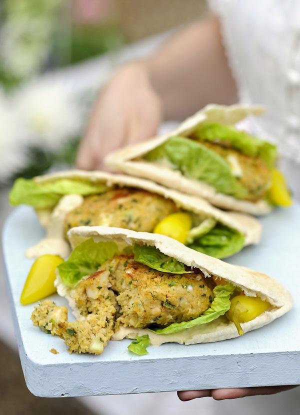 Falafel and Halloumi Veggie Burger Recipe