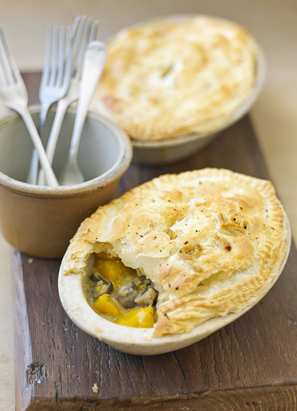 Mushroom Pot Pie Recipe with Squash