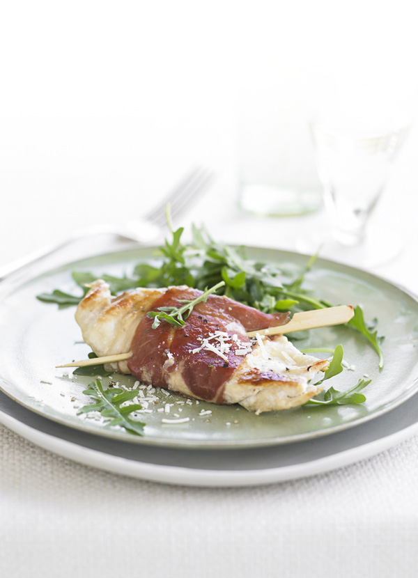 Crisp chicken with parmesan and prosciutto