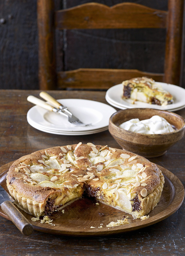 Pear and Chocolate Frangipane Tart Recipe