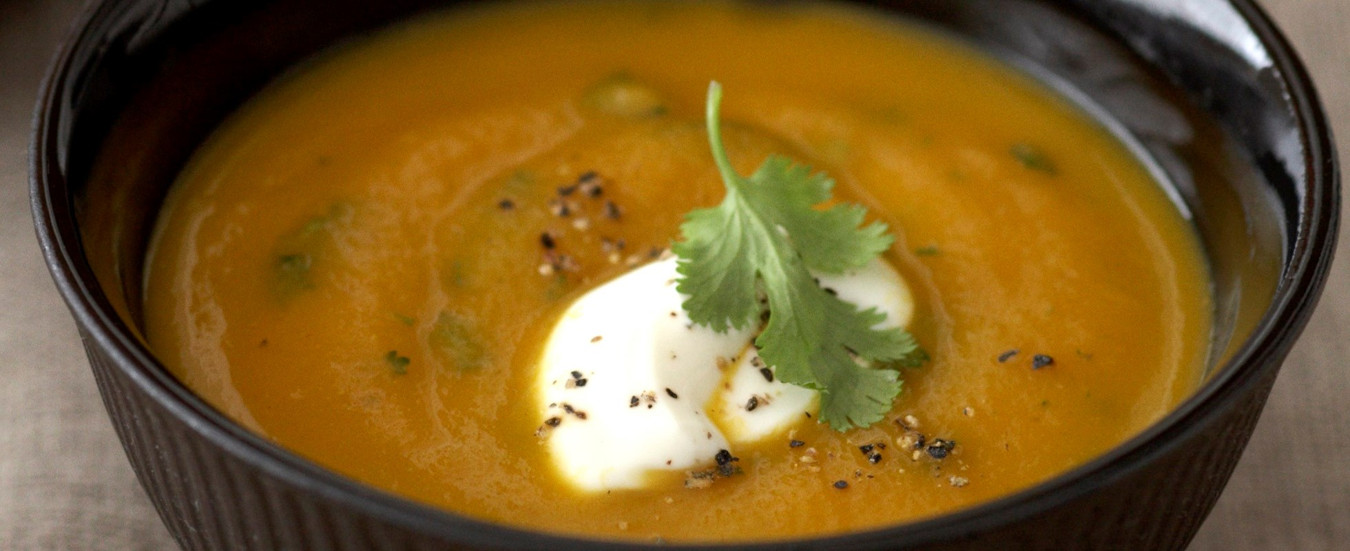 Carrot and cumin soup with fresh coriander recipe - olive ...