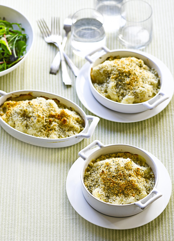 Cauli cheese with crunchy sage crumbs