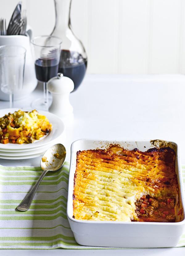 Spiced shepherd's pie with parsnip mash