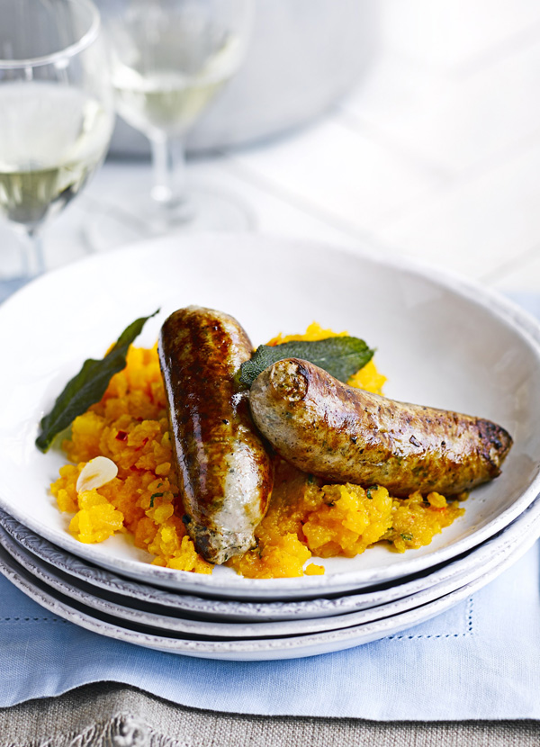 Italian Sausage Recipe With Sage, Chilli and Butternut Squash Mash