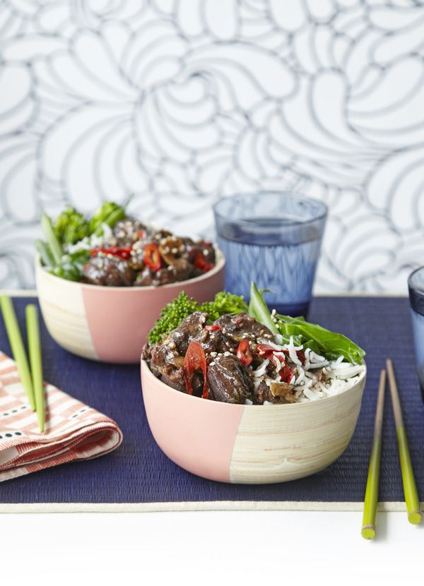 Beef with Chinese Five Spice and Sesame Greens Recipe