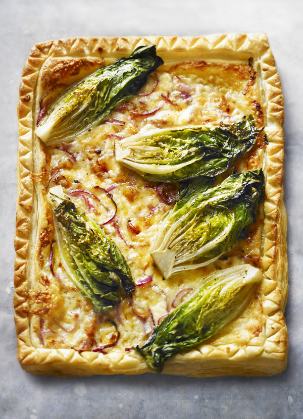 Little Gem and cheddar cheese tart