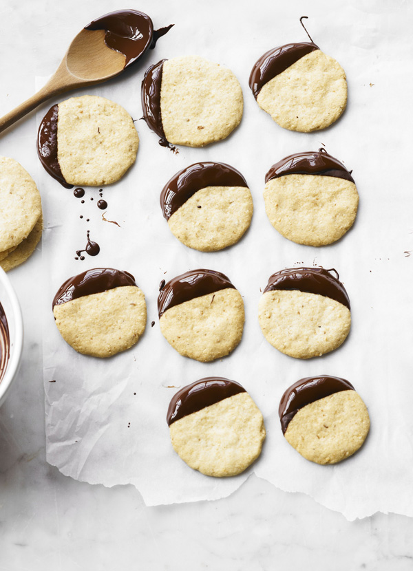 Cobnut and Chocolate Shortbreads Recipe