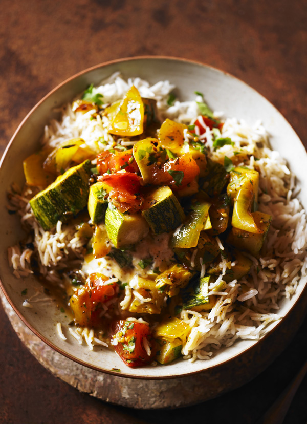 Coriander and spiced marrow curry