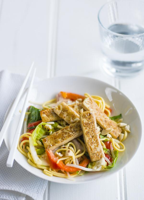 Peanut tofu stir-fry