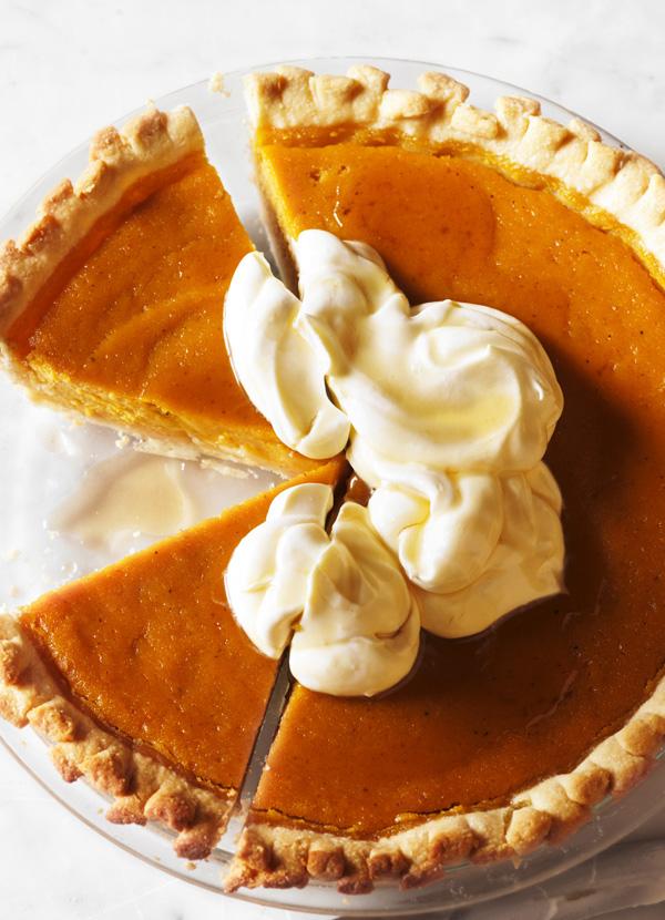 Pumpkin Pie With Maple Cream Recipe