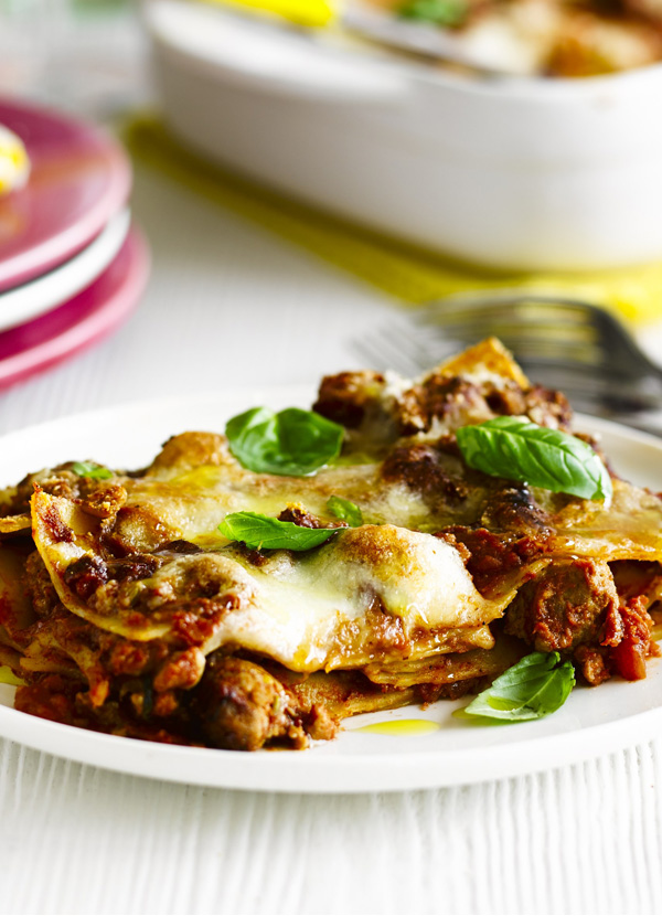 Italian sausage and fennel lasagne