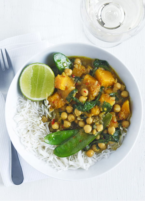 Coconut chickpea curry
