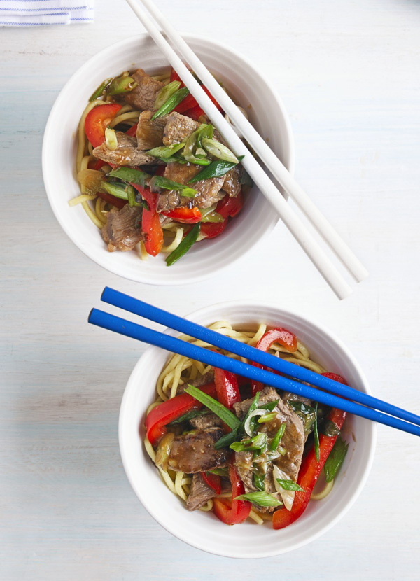Beef and red pepper stir-fry