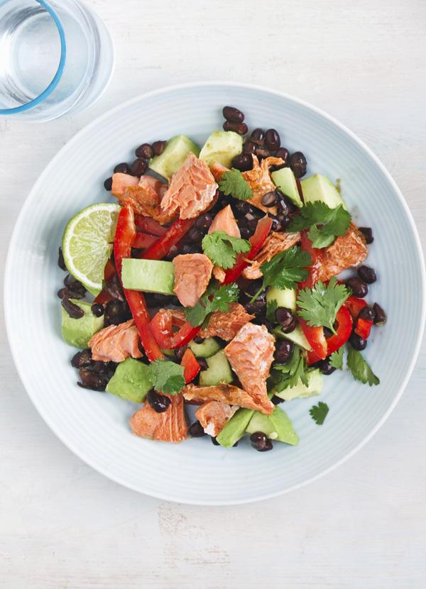 Chipotle Alaskan salmon salad