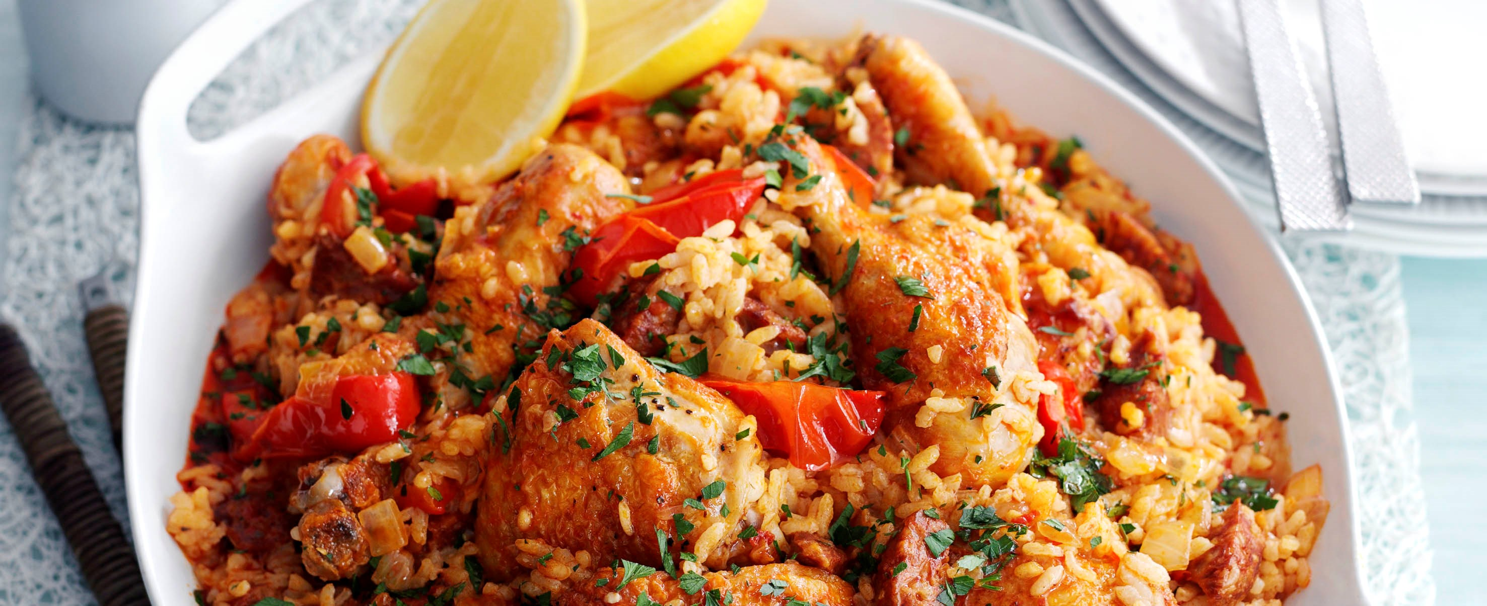 home meat and poultry baked spanish rice with chicken and chorizo