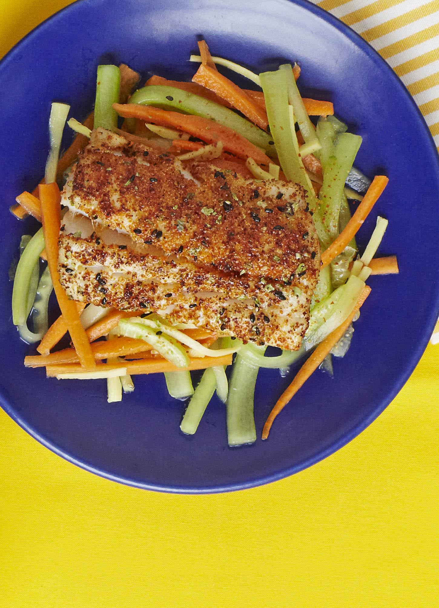 Sesame chilli fish