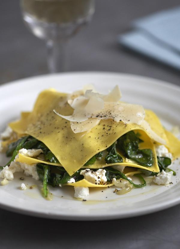 Open Spinach and Ricotta Ravioli Recipe