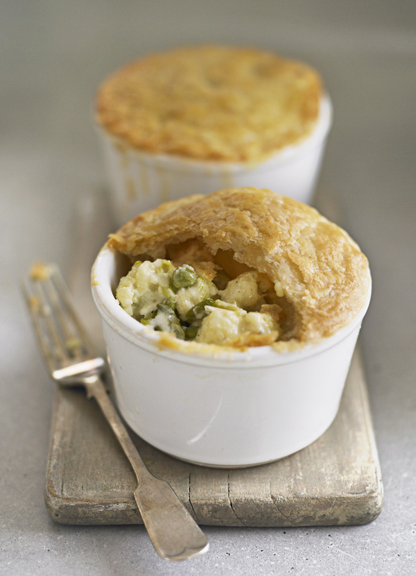 cauliflower cheese pot pies