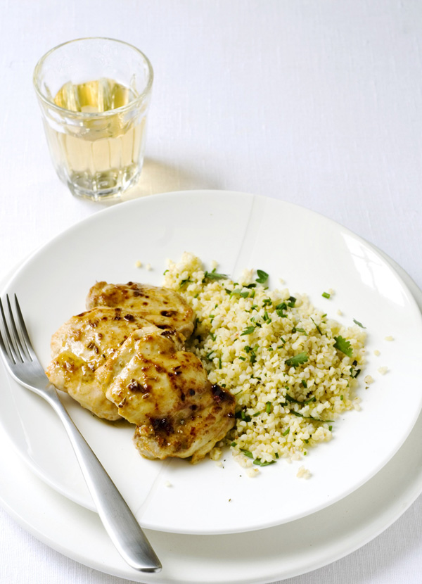 Grilled chicken with yoghurt and bulgar wheat salad