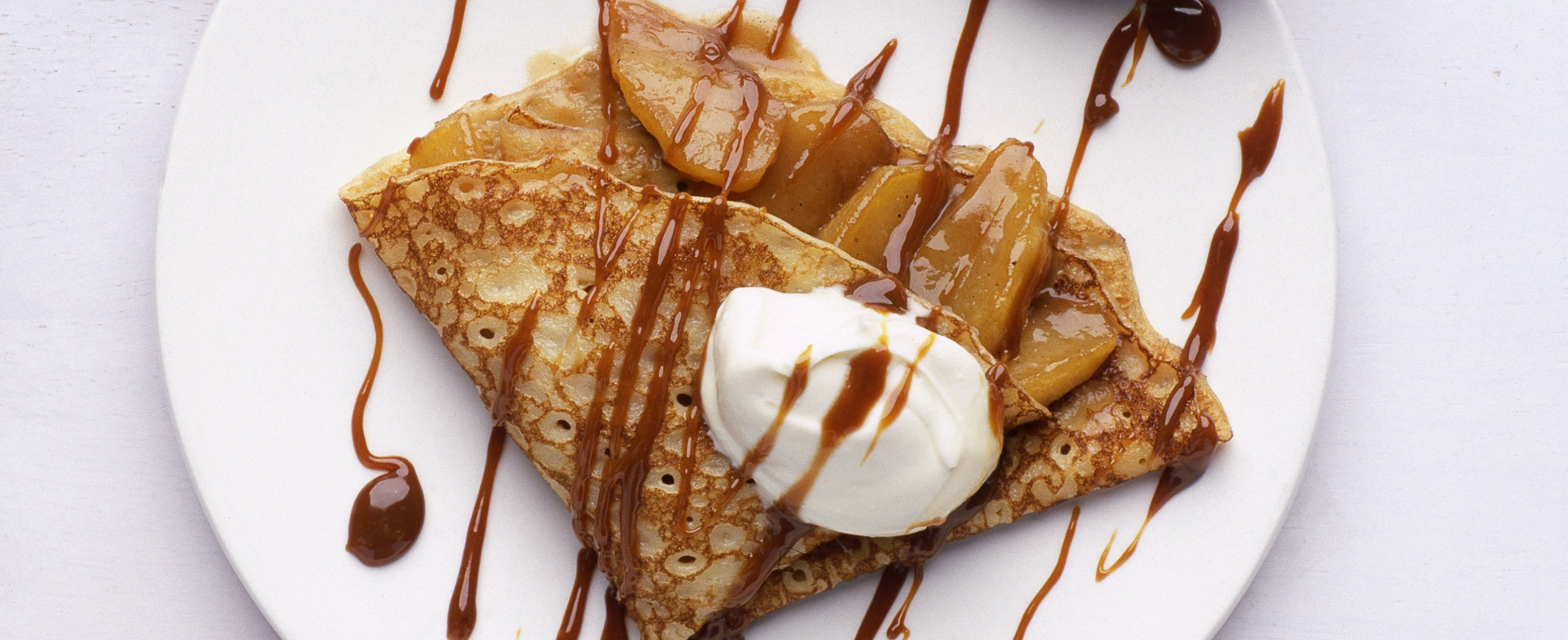 Toffee apple and calvados pancakes