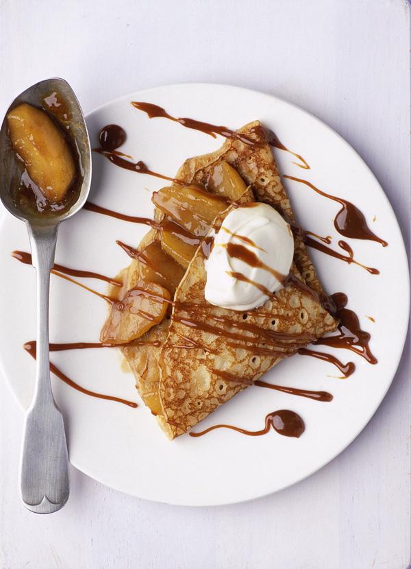 Toffee Apple Pancakes Recipe With Calvados