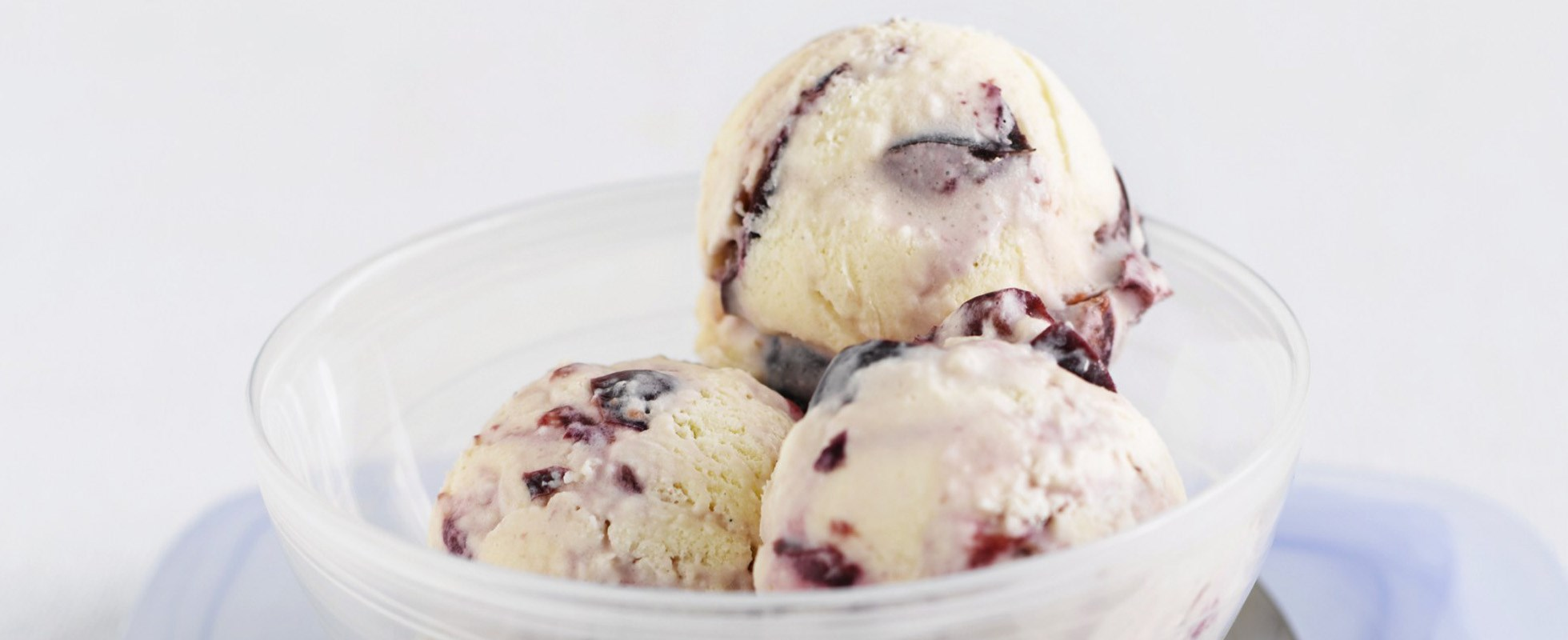 Cherry ripple ice cream