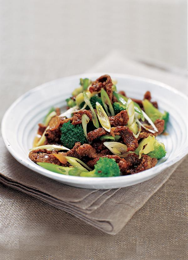Crispy chilli beef with broccoli