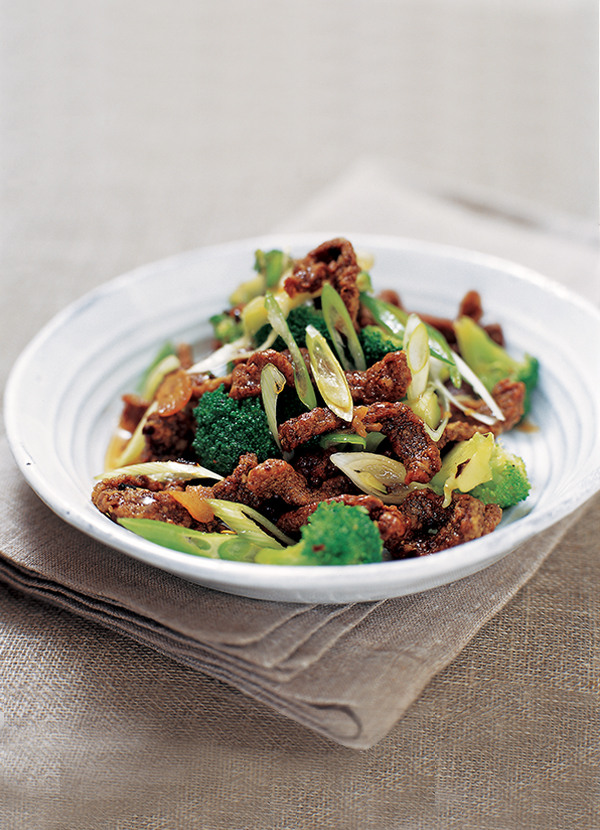 Crispy chilli beef with broccoli
