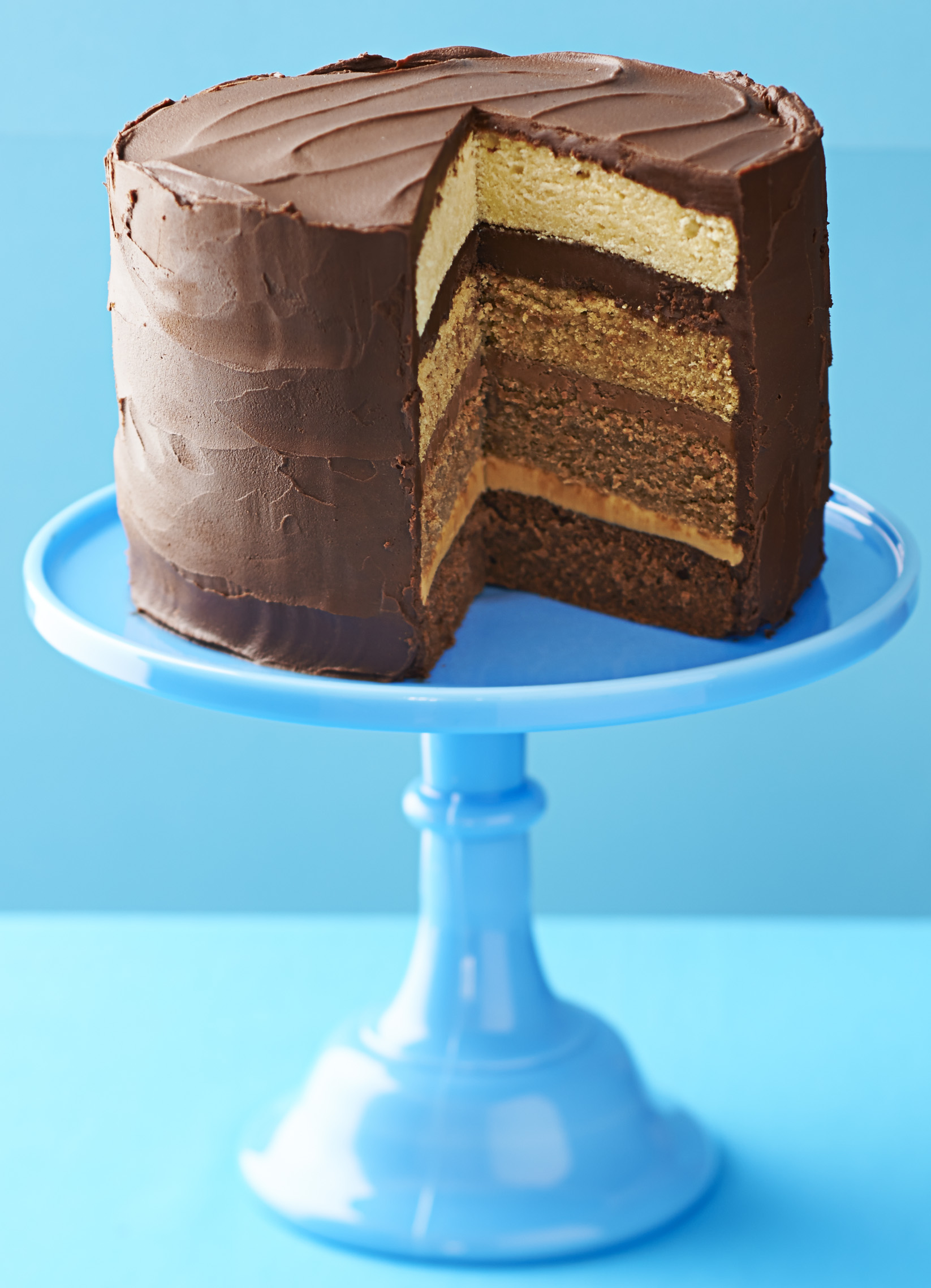 Chocolate And Caramel Ombre Cake Recipe