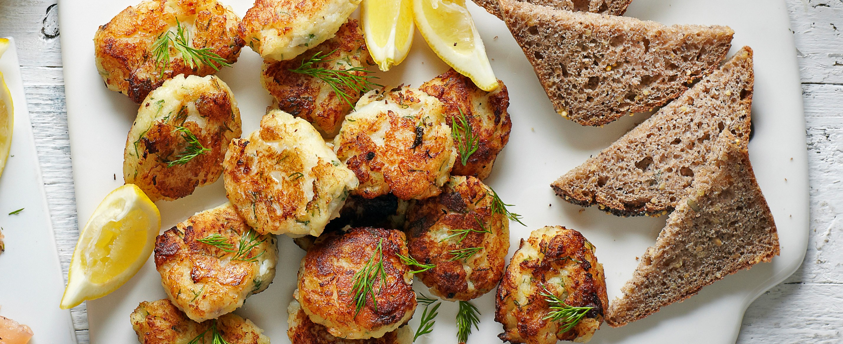 Smoked cod fritters