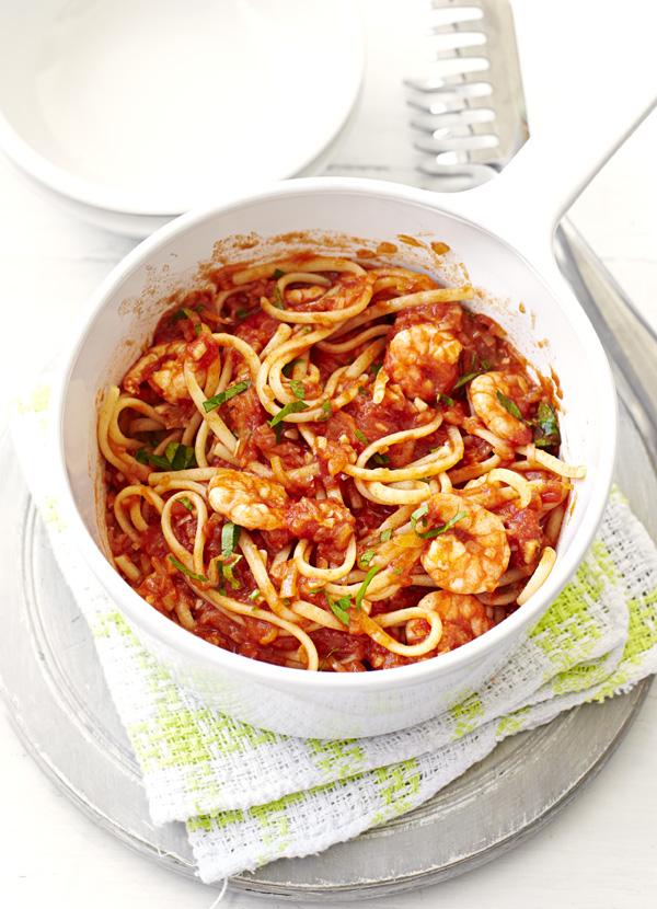 Spicy Prawn Linguine Pasta Recipe Olive Magazine