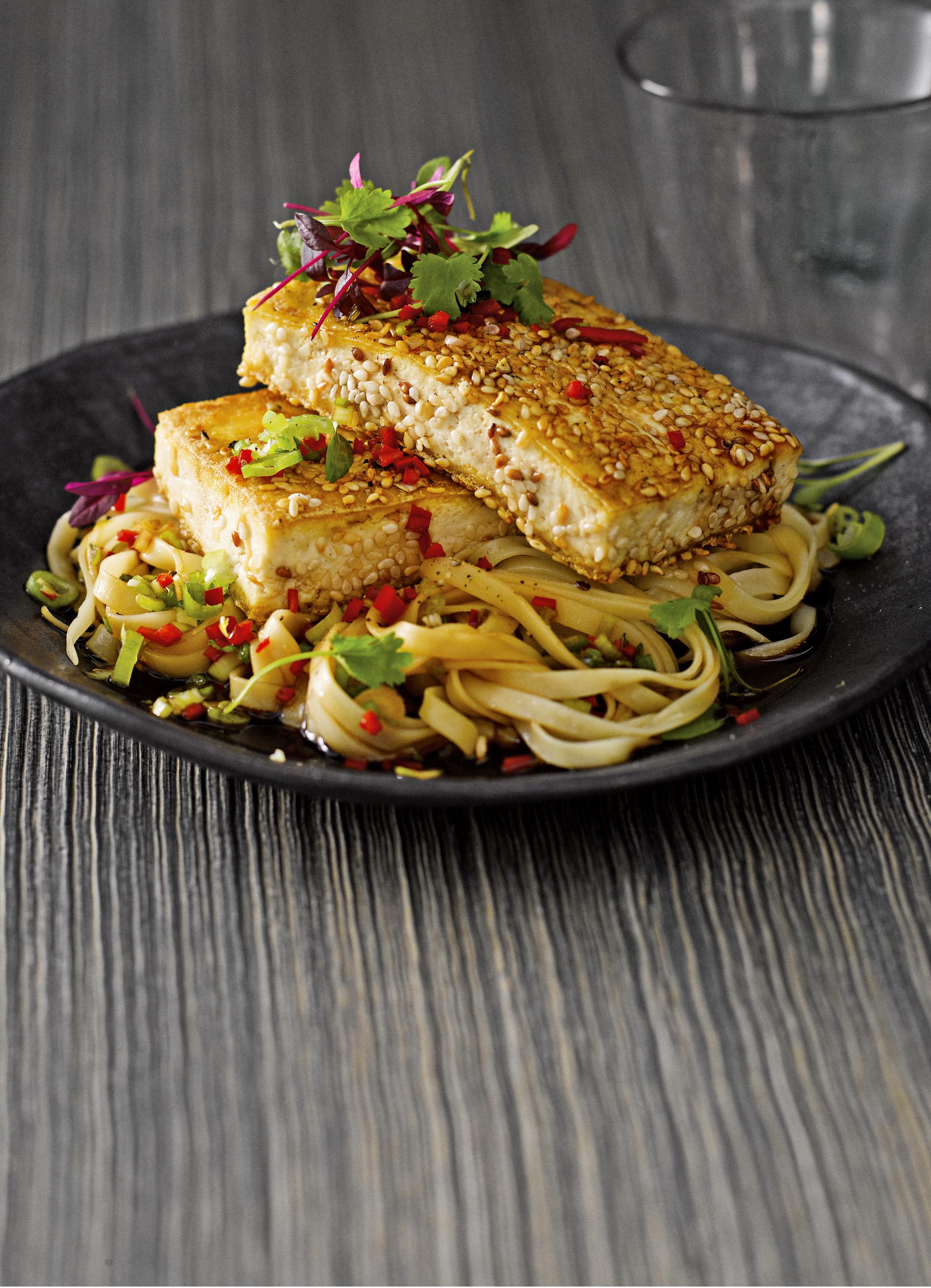 Crispy Tofu Recipe With Noodle Salad