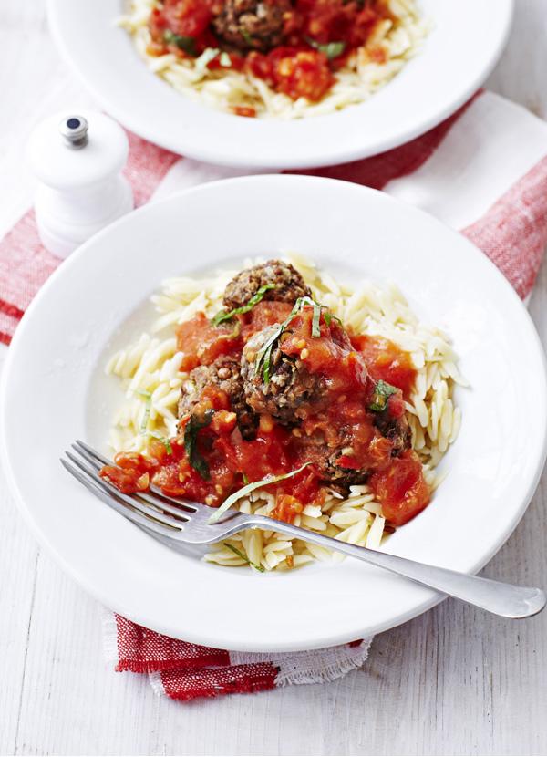 Lentil 'Meatballs' With Fresh Tomato Sauce Recipe