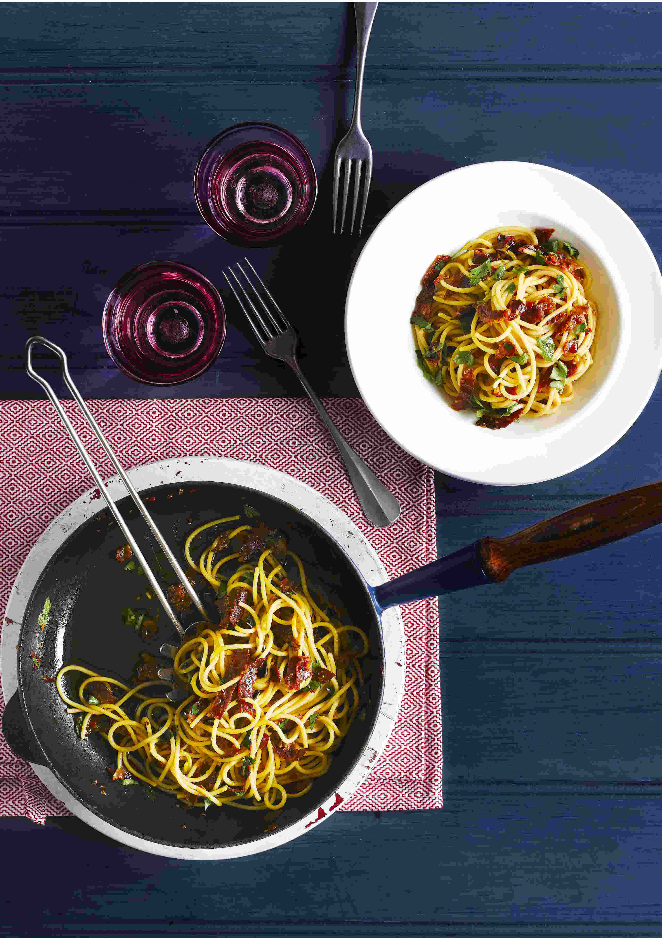Chorizo Pasta Recipe With Olive Oil and Parsley